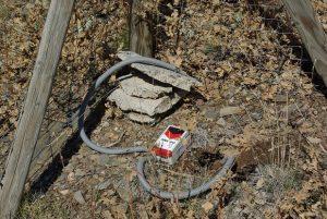 Ein ausgebrachter Sensor